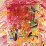 Hong Liu-Sertti, Distant Journey, mixed media on ricepaper on silk, 60x80cm, 2020