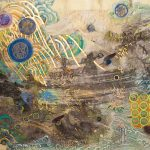 Hong Liu-Sertti, Spring, mixed media on ricepaper on canvas, 60x80cm, 2020